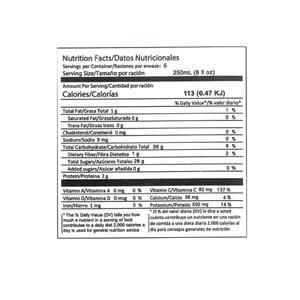 Dr. Juice Naranja bebida natural nutrition facts el salvador