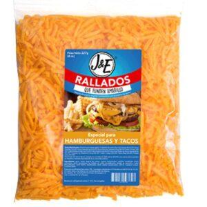 Rallados que funden amarillo Quesos Hamburguesas Tacos Diaco El Salvador
